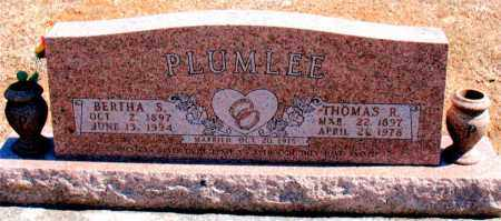 PLUMLEE, THOMAS R. - Carroll County, Arkansas | THOMAS R. PLUMLEE - Arkansas Gravestone Photos