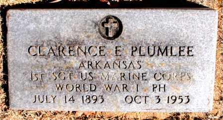 PLUMLEE (VETERAN WWI), CLARENCE E - Carroll County, Arkansas | CLARENCE E PLUMLEE (VETERAN WWI) - Arkansas Gravestone Photos