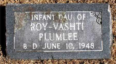 PLUMLEE, INFANT DAUGHTER - Carroll County, Arkansas | INFANT DAUGHTER PLUMLEE - Arkansas Gravestone Photos