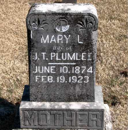 PLUMLEE, MARY L. - Carroll County, Arkansas | MARY L. PLUMLEE - Arkansas Gravestone Photos