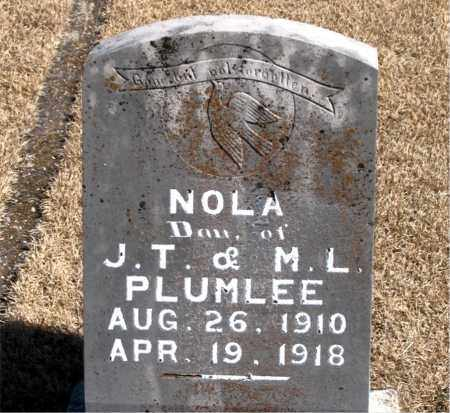 PLUMLEE, NOLA - Carroll County, Arkansas | NOLA PLUMLEE - Arkansas Gravestone Photos