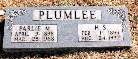 PLUMLEE, PARLIE M. - Carroll County, Arkansas | PARLIE M. PLUMLEE - Arkansas Gravestone Photos