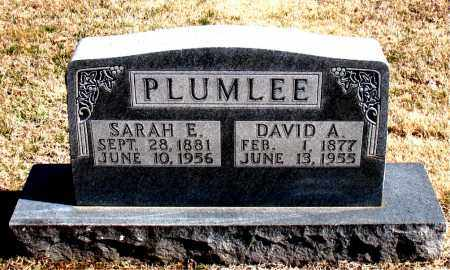 PLUMLEE, SARAH  E. - Carroll County, Arkansas | SARAH  E. PLUMLEE - Arkansas Gravestone Photos