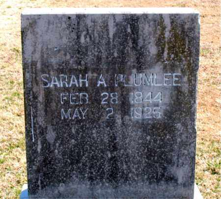 PLUMLEE, SARAH A. - Carroll County, Arkansas | SARAH A. PLUMLEE - Arkansas Gravestone Photos