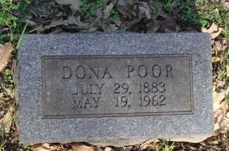 POOR, DONA - Carroll County, Arkansas | DONA POOR - Arkansas Gravestone Photos