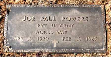 POWERS (VETERAN WWII), JOE PAUL - Carroll County, Arkansas | JOE PAUL POWERS (VETERAN WWII) - Arkansas Gravestone Photos