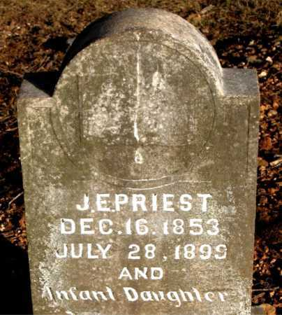 PRIEST, J. E. - Carroll County, Arkansas | J. E. PRIEST - Arkansas Gravestone Photos