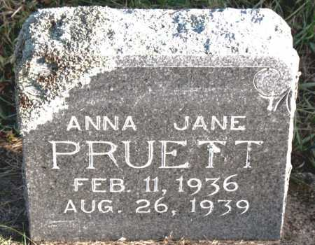 PRUETT, ANNA  JANE - Carroll County, Arkansas | ANNA  JANE PRUETT - Arkansas Gravestone Photos