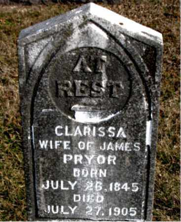 PRYOR, CLARISSA - Carroll County, Arkansas | CLARISSA PRYOR - Arkansas Gravestone Photos