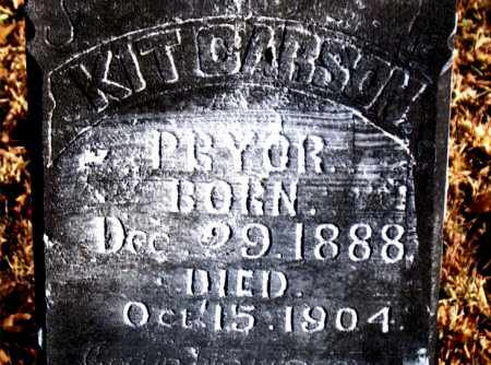 PRYOR, KIT CARSON - Carroll County, Arkansas | KIT CARSON PRYOR - Arkansas Gravestone Photos
