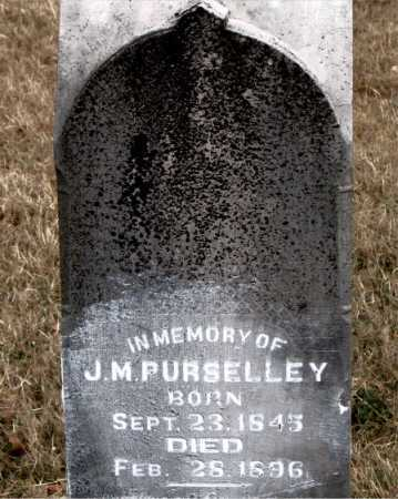 PURSELLEY, J. M. - Carroll County, Arkansas | J. M. PURSELLEY - Arkansas Gravestone Photos