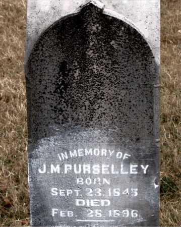 PURSELLEY, J. M. - Carroll County, Arkansas | J. M. PURSELLEY - Arkansas Gravestone Photos