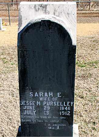 PURSELLEY, SARAH E - Carroll County, Arkansas | SARAH E PURSELLEY - Arkansas Gravestone Photos