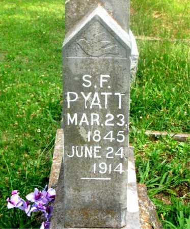 PYATT, S. F. - Carroll County, Arkansas | S. F. PYATT - Arkansas Gravestone Photos