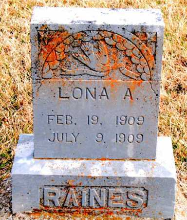 RAINES, LONA A. - Carroll County, Arkansas | LONA A. RAINES - Arkansas Gravestone Photos