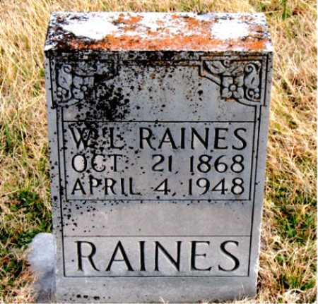 RAINES, W. L. - Carroll County, Arkansas | W. L. RAINES - Arkansas Gravestone Photos