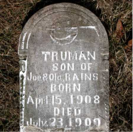 RAINS, TRUMAN - Carroll County, Arkansas | TRUMAN RAINS - Arkansas Gravestone Photos