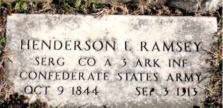 RAMSEY  (VETERAN CSA), HENDERSON  L - Carroll County, Arkansas | HENDERSON  L RAMSEY  (VETERAN CSA) - Arkansas Gravestone Photos