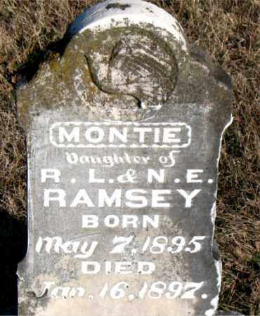 RAMSEY, MONTIE - Carroll County, Arkansas | MONTIE RAMSEY - Arkansas Gravestone Photos