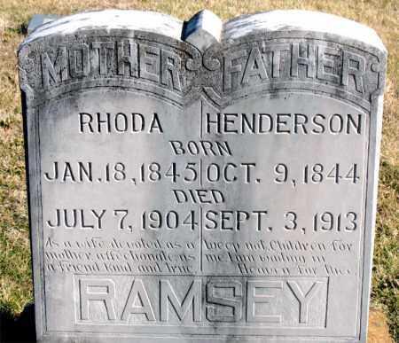 RAMSEY, HENDERSON - Carroll County, Arkansas | HENDERSON RAMSEY - Arkansas Gravestone Photos