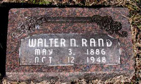 RAND, WALTER N - Carroll County, Arkansas | WALTER N RAND - Arkansas Gravestone Photos