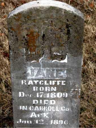 RATCLIFF, JANE - Carroll County, Arkansas | JANE RATCLIFF - Arkansas Gravestone Photos