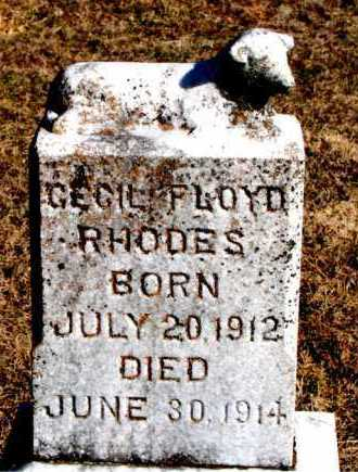 RHODES, CECIL FLOYD - Carroll County, Arkansas | CECIL FLOYD RHODES - Arkansas Gravestone Photos