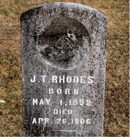 RHODES, J T - Carroll County, Arkansas | J T RHODES - Arkansas Gravestone Photos