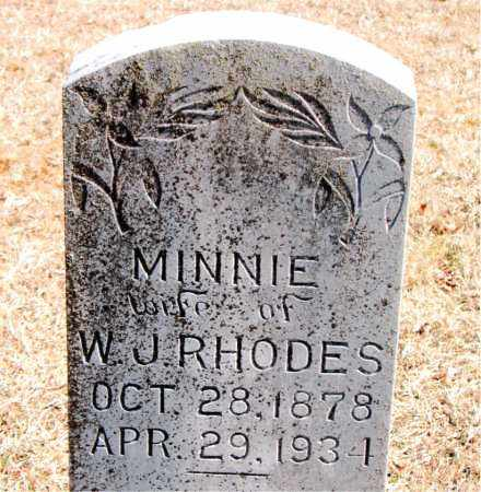 RHODES, MINNIE - Carroll County, Arkansas | MINNIE RHODES - Arkansas Gravestone Photos
