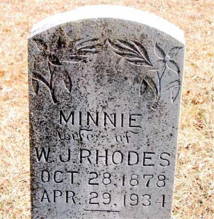 RHODES, MINNIE - Carroll County, Arkansas | MINNIE RHODES - Arkansas Gravestone Photos