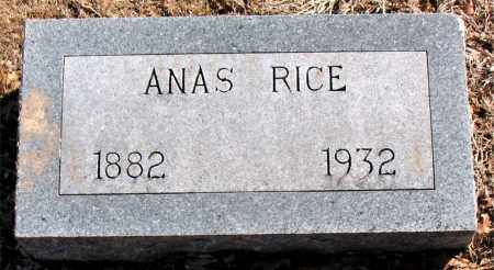 RICE, ANAS - Carroll County, Arkansas | ANAS RICE - Arkansas Gravestone Photos