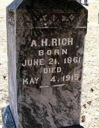 RICH, A H - Carroll County, Arkansas | A H RICH - Arkansas Gravestone Photos