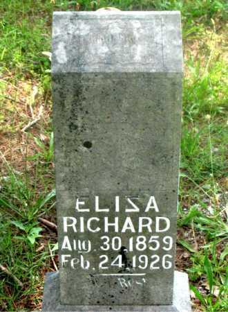 RICHARD, ELISA - Carroll County, Arkansas | ELISA RICHARD - Arkansas Gravestone Photos