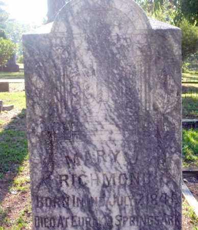 RICHMOND, MARY J - Carroll County, Arkansas | MARY J RICHMOND - Arkansas Gravestone Photos