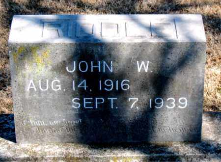 RIDDLE, JOHN W. - Carroll County, Arkansas | JOHN W. RIDDLE - Arkansas Gravestone Photos