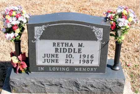 RIDDLE, RETHA M. - Carroll County, Arkansas | RETHA M. RIDDLE - Arkansas Gravestone Photos