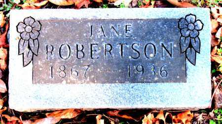 ROBERTSON, JANE - Carroll County, Arkansas | JANE ROBERTSON - Arkansas Gravestone Photos