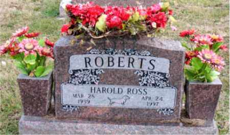 ROBERTS, HAROLD ROSS - Carroll County, Arkansas | HAROLD ROSS ROBERTS - Arkansas Gravestone Photos