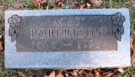 ROBERTSON, ALEC - Carroll County, Arkansas | ALEC ROBERTSON - Arkansas Gravestone Photos