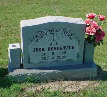 ROBERTSON, A J JACK - Carroll County, Arkansas | A J JACK ROBERTSON - Arkansas Gravestone Photos
