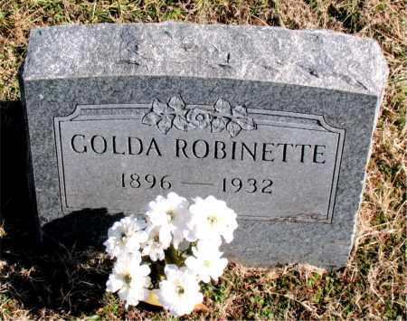 ROBINETTE, GOLDA - Carroll County, Arkansas | GOLDA ROBINETTE - Arkansas Gravestone Photos