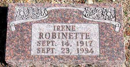 ROBINETTE, IRENE - Carroll County, Arkansas | IRENE ROBINETTE - Arkansas Gravestone Photos