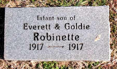 ROBINETTE, INFANT SON - Carroll County, Arkansas | INFANT SON ROBINETTE - Arkansas Gravestone Photos