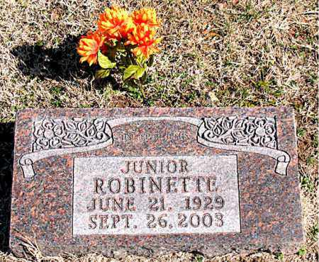 ROBINETTE, JUNIOR - Carroll County, Arkansas | JUNIOR ROBINETTE - Arkansas Gravestone Photos
