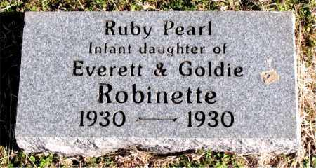 ROBINETTE, RUBY PEARL - Carroll County, Arkansas | RUBY PEARL ROBINETTE - Arkansas Gravestone Photos
