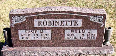 ROBINETTE, WILLIS J - Carroll County, Arkansas | WILLIS J ROBINETTE - Arkansas Gravestone Photos