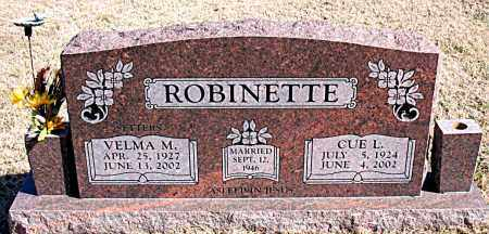 ROBINETTE, CUE L - Carroll County, Arkansas | CUE L ROBINETTE - Arkansas Gravestone Photos
