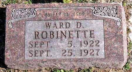 ROBINETTE, WARD D - Carroll County, Arkansas | WARD D ROBINETTE - Arkansas Gravestone Photos