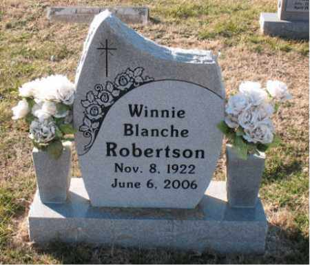 ROBERTSON, WINNIE  BLANCHE - Carroll County, Arkansas | WINNIE  BLANCHE ROBERTSON - Arkansas Gravestone Photos