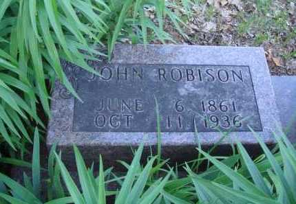 ROBISON, JOHN - Carroll County, Arkansas | JOHN ROBISON - Arkansas Gravestone Photos